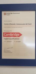 Certificado Cambridge Centro de Estudios Academia Formación Autoescuela en Mutxamel